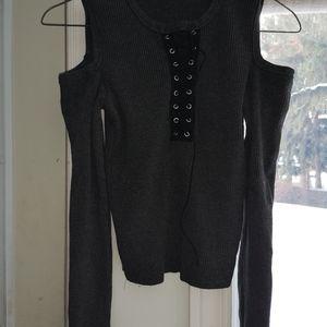 Fashion Nova open shoulder crop top